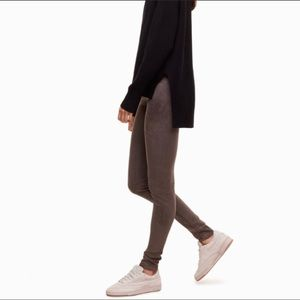 Wilfred Free vegan suede leather Daria leggings